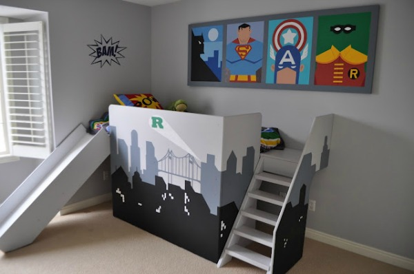 Batman Vs Superman Bedroom Ideas   DIY Super Hero Bed