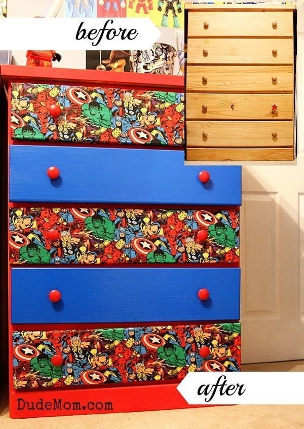DIY-SuperHero-Themed-Marvel-Comic-Dresser