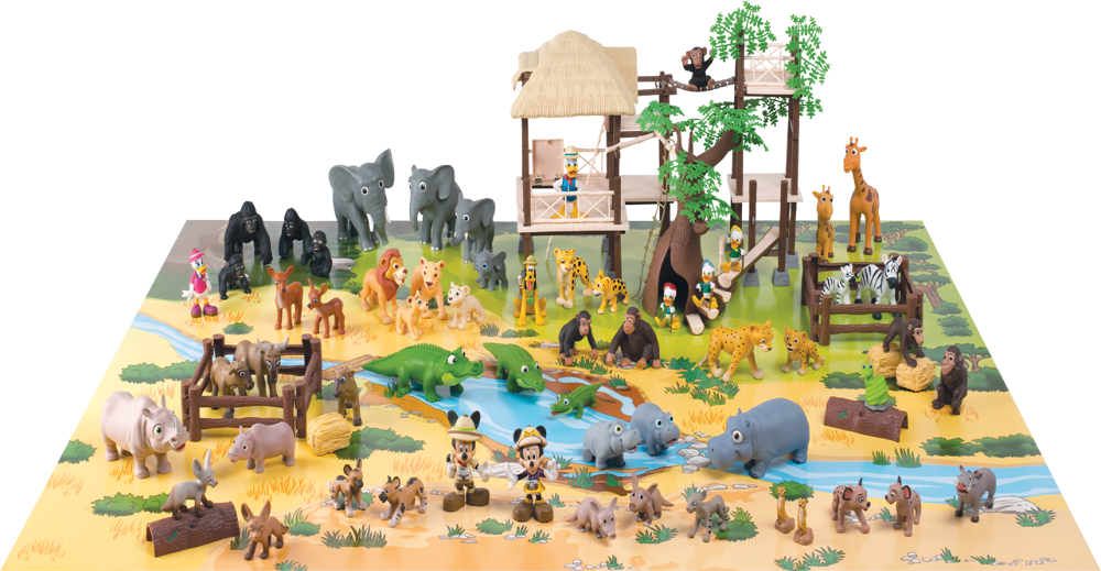 Eaglemoss Disney Animal World Play-Along Library Review - Tree house playset - collection-complete