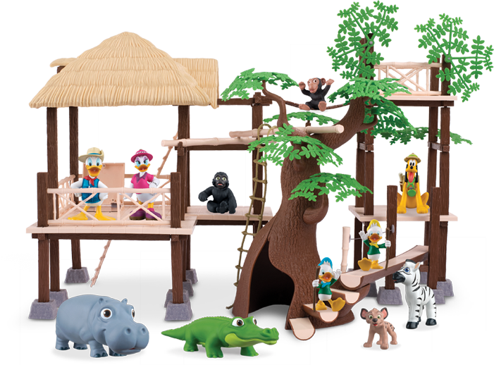 Eaglemoss Disney Animal World Play-Along Library Review - Tree house playset