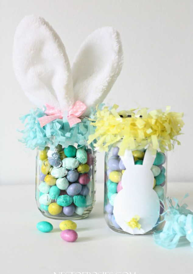 21 amazing easter egg crafts for kids they will love easter craft mason jar easter treats negle Images