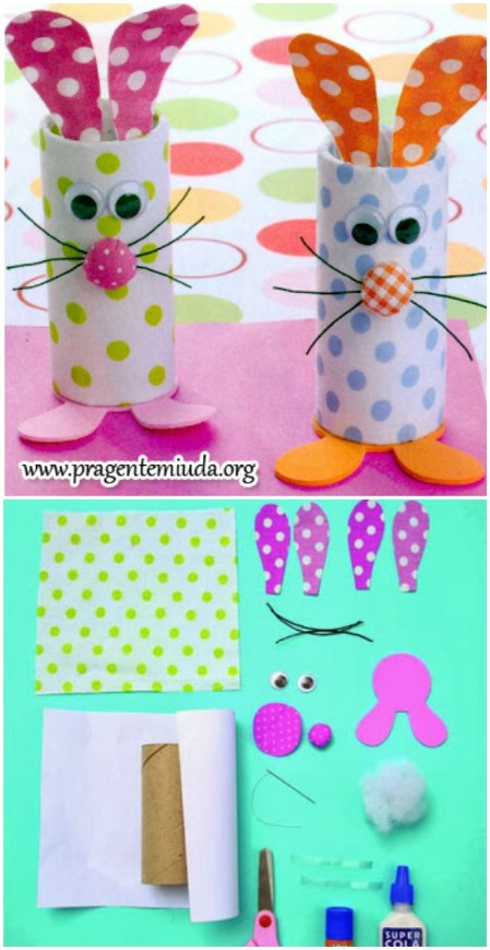 Easter Crafts Easter Bunny Toilet Rolls