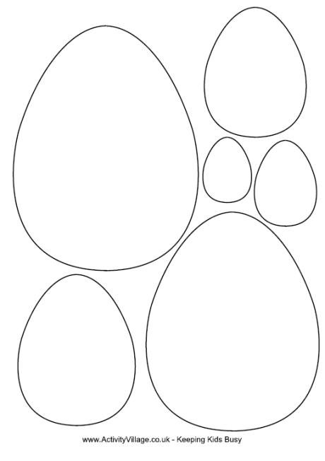 Easter Crafts Easter Egg Colouring Template