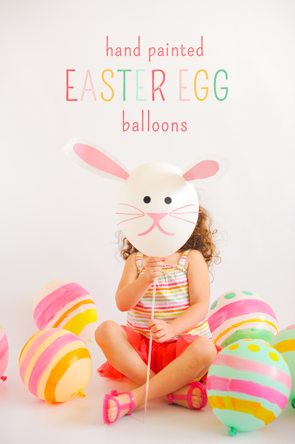 Easter Crafts Hand Painted Easter Egg Balloons