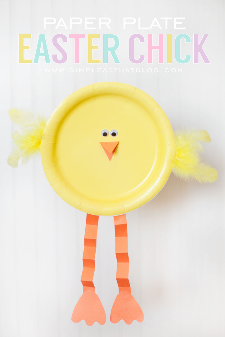 Easter Crafts Paper Plate Easter Chick