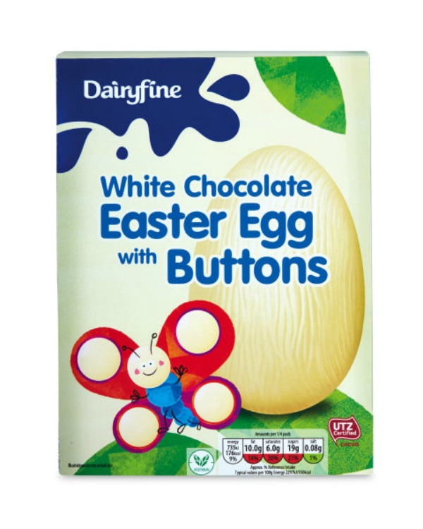 Easter Eggs - We test to bring you the best! - Dairyfine-White-Chocolate-Egg