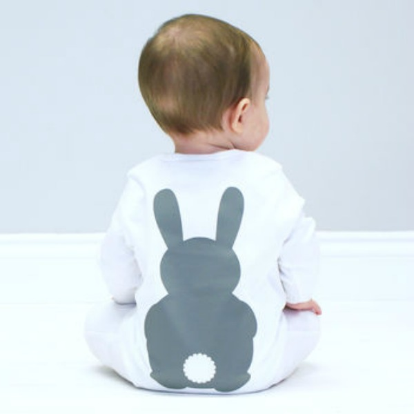 Eggciting Easter Gifts for Children‎ -Bunny Rabbit Baby Sleepsuit