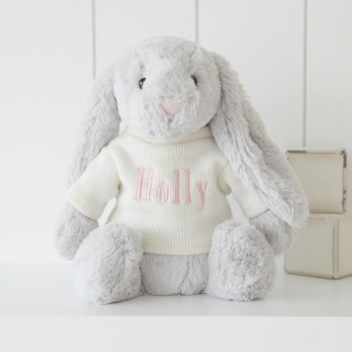 Eggciting Easter Gifts for Children‎ - Jellycat Silver Bashful Bunny from My 1st Years