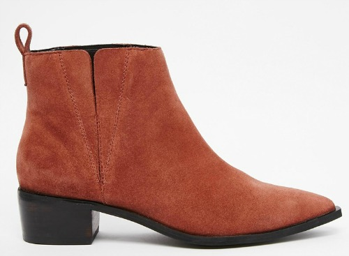 FOOTWEAR INSPIRATION -ASOS AVA Suede Pointed Chelsea Boots