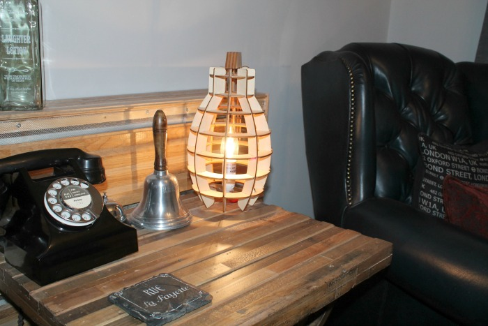 Home Decor Spruce up your home this Easter - Decorative Military Style Wooden Table Lamp
