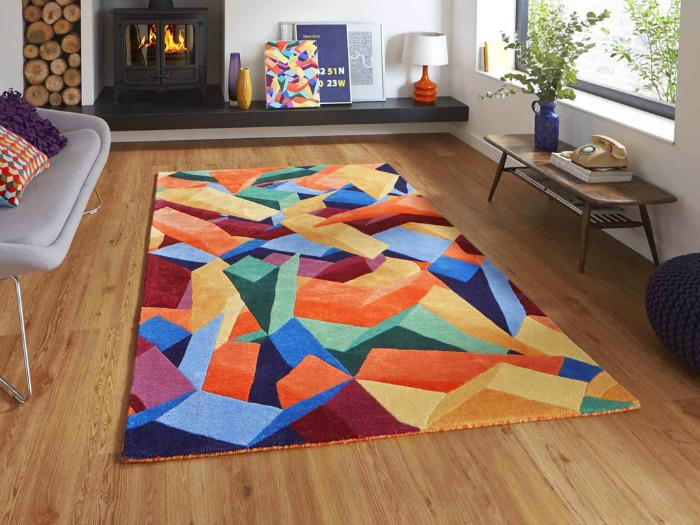Home Decor: Spruce up your home this Easter -Funk Multi Geometric Wool Rug by Asiatic