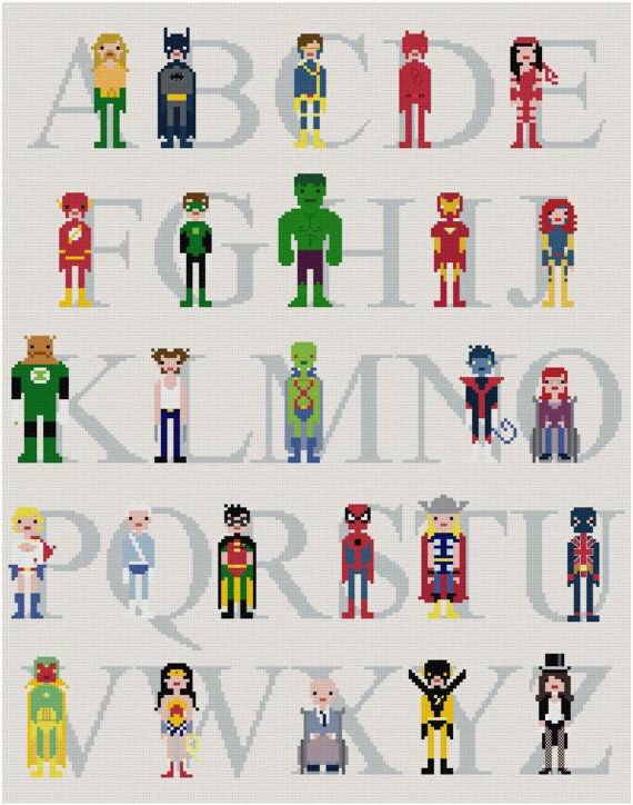 SuperHero-Alphabet-Stitch-The-Letters