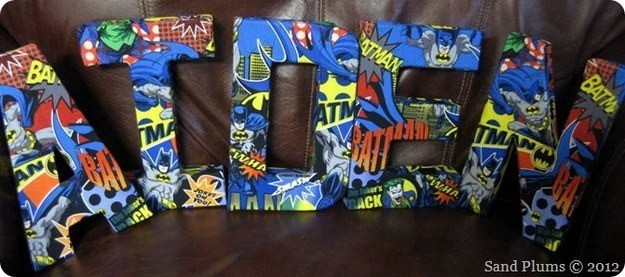 SuperHero-DIY-Letters-Covered-With-Comic-Books