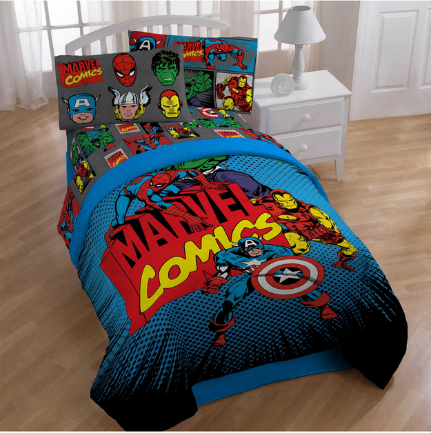 SuperHero-Marvel-Bed-Cover