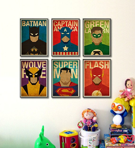 SuperHero-Vintage-Framed-Images