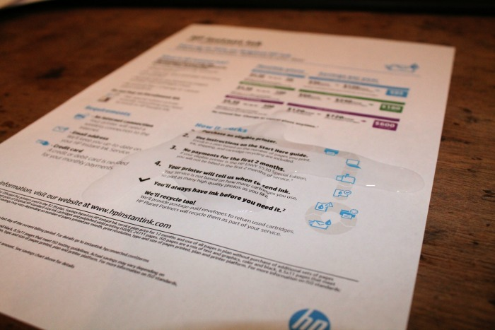 HP Envy 5540 with Hp Instant Ink - Water Test