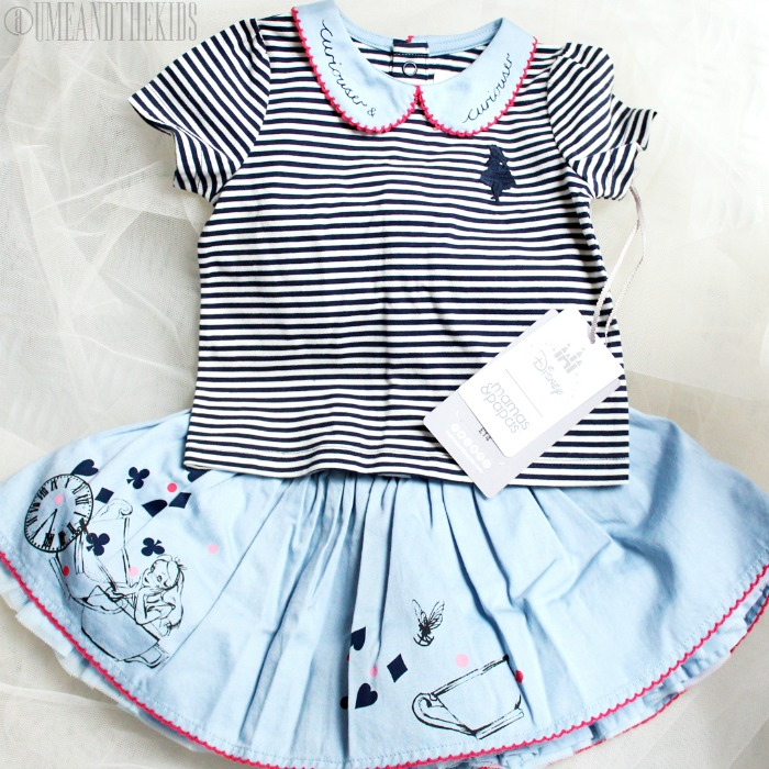 New Disney Alice in Wonderland clothing range from Mamas & Papas - Alice in Wonderland Skirt and top Girls