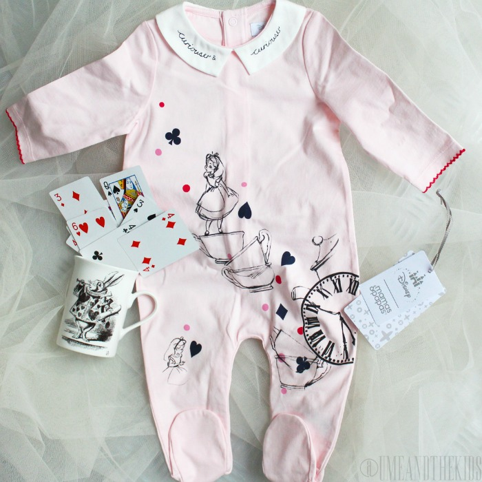 New Disney Alice in Wonderland clothing range from Mamas & Papas - Alice in Wonderland girls baby-gro