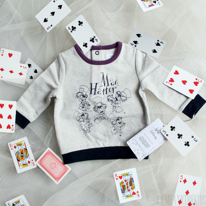 New Disney Alice in Wonderland clothing range from Mamas & Papas - Boys Mad Hatter Jumper