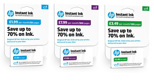 Review - HP Envy 5540 with Hp Instant Ink - Instant Ink package