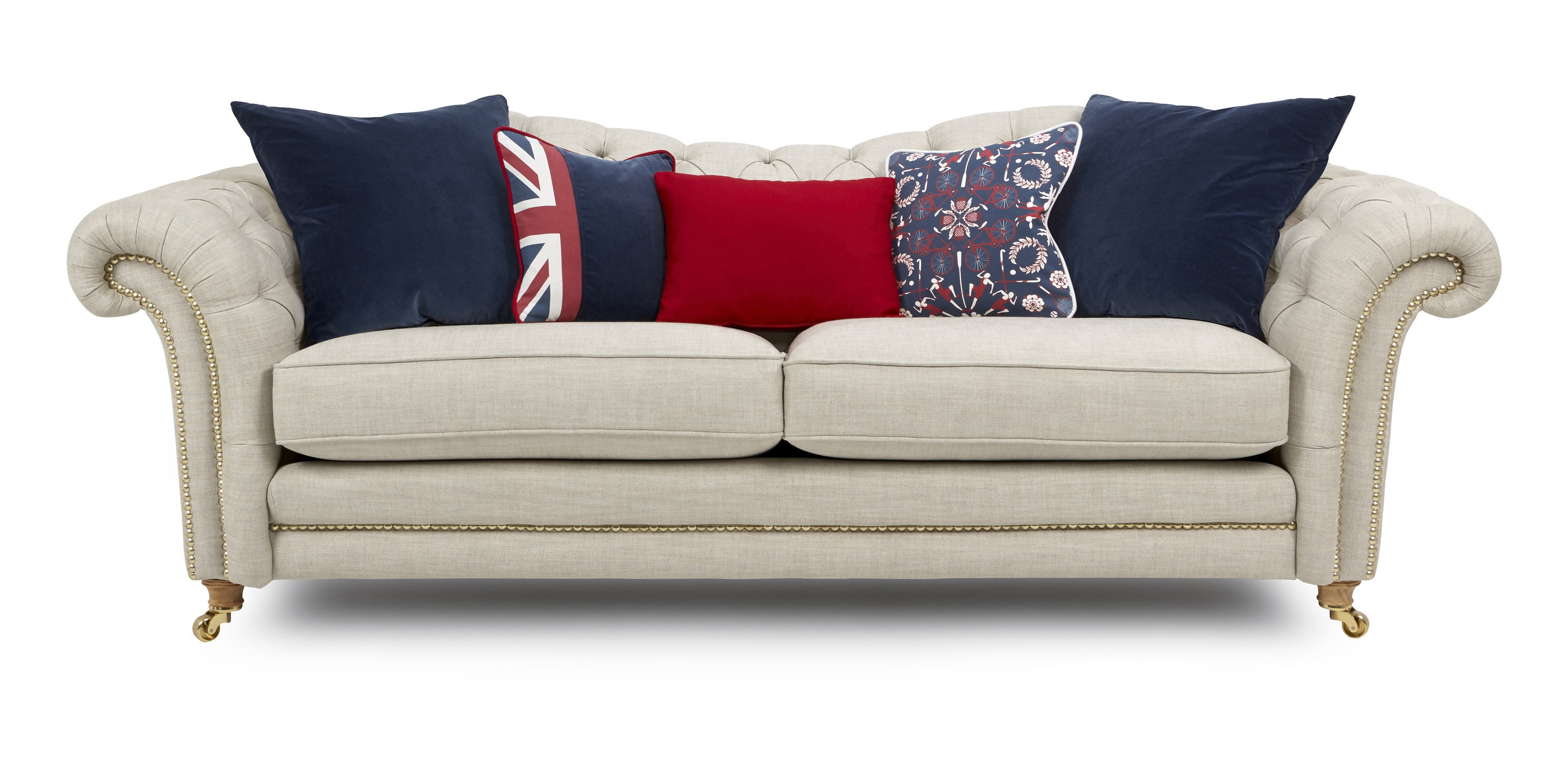 DFS THE OFFICIAL HOME-WARE PARTNER FOR TEAM GB Britannia sofa with cushions