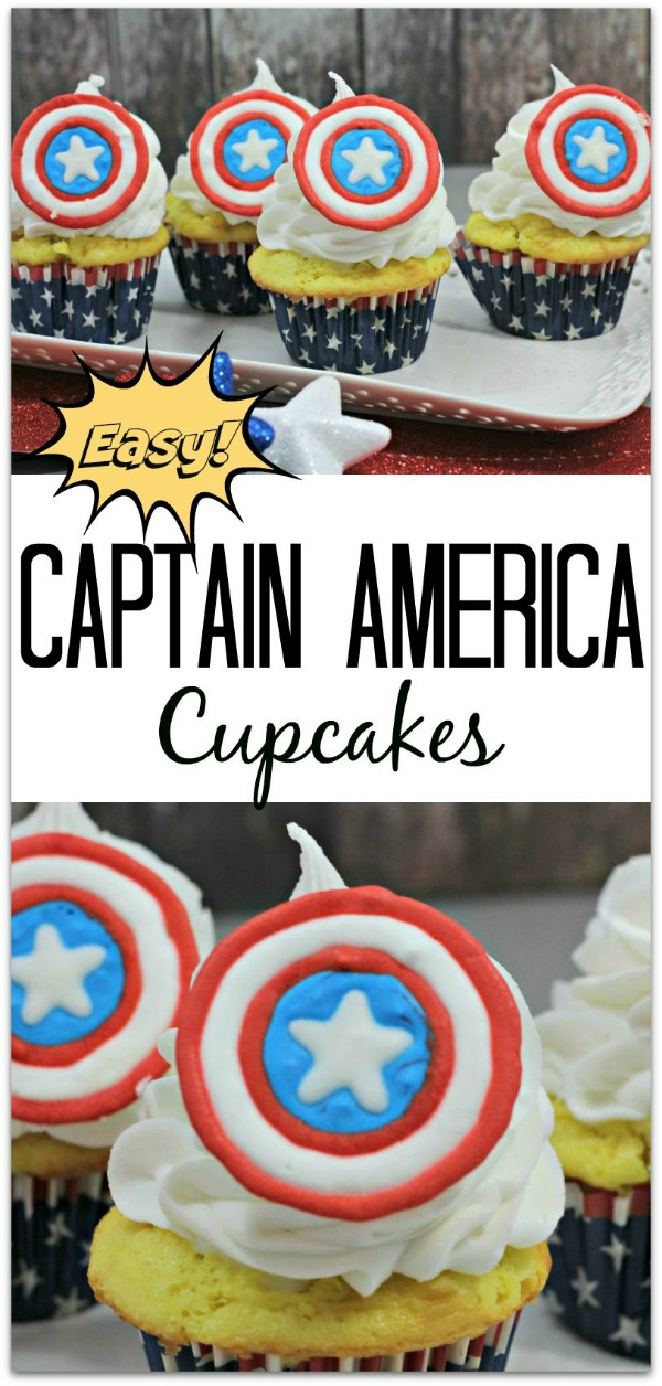 15 Captain America: Civil War Party Ideas - Captain America Cupcakes