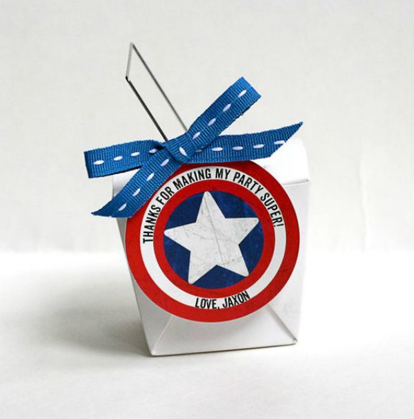 15 Captain America: Civil War Party Ideas - Captain America Favor labels