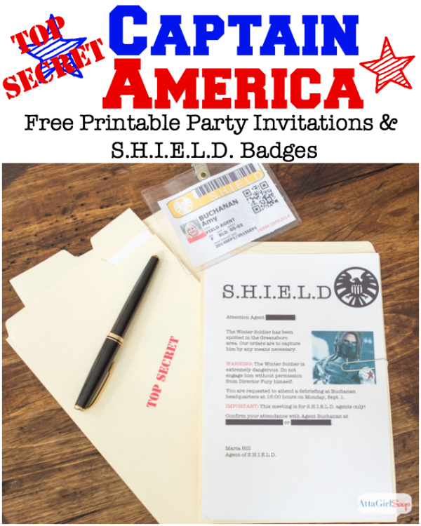 15 Captain America: Civil War Party Ideas - Free Printable Party Invitations and badges