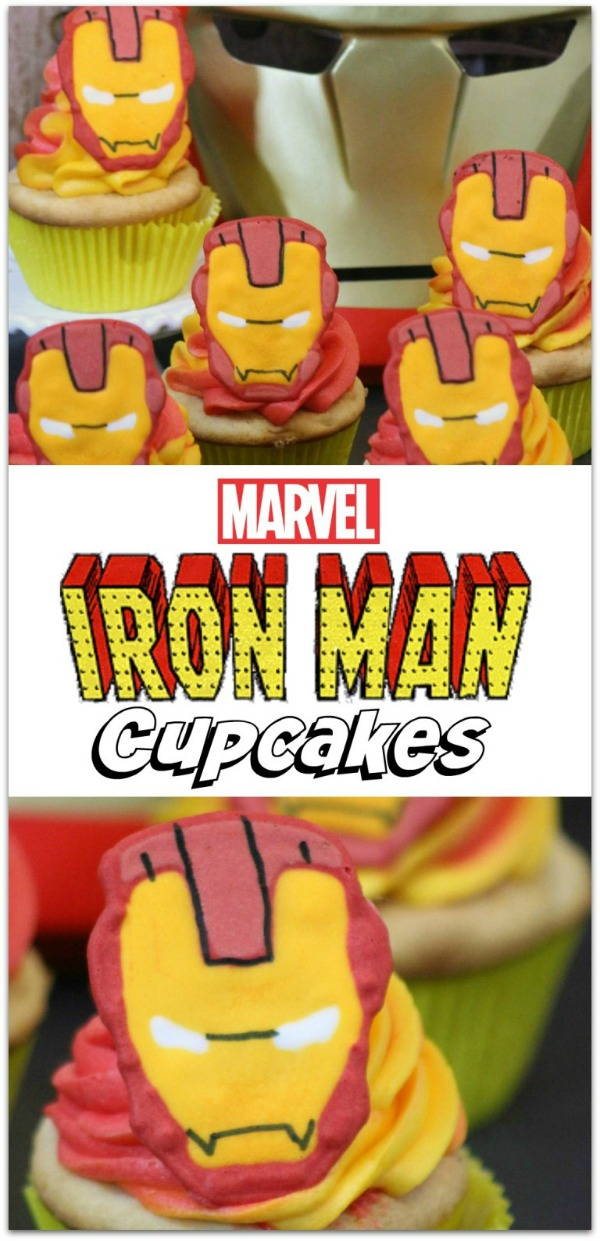 15 Captain America: Civil War Party Ideas - Iron Man Cupcakes