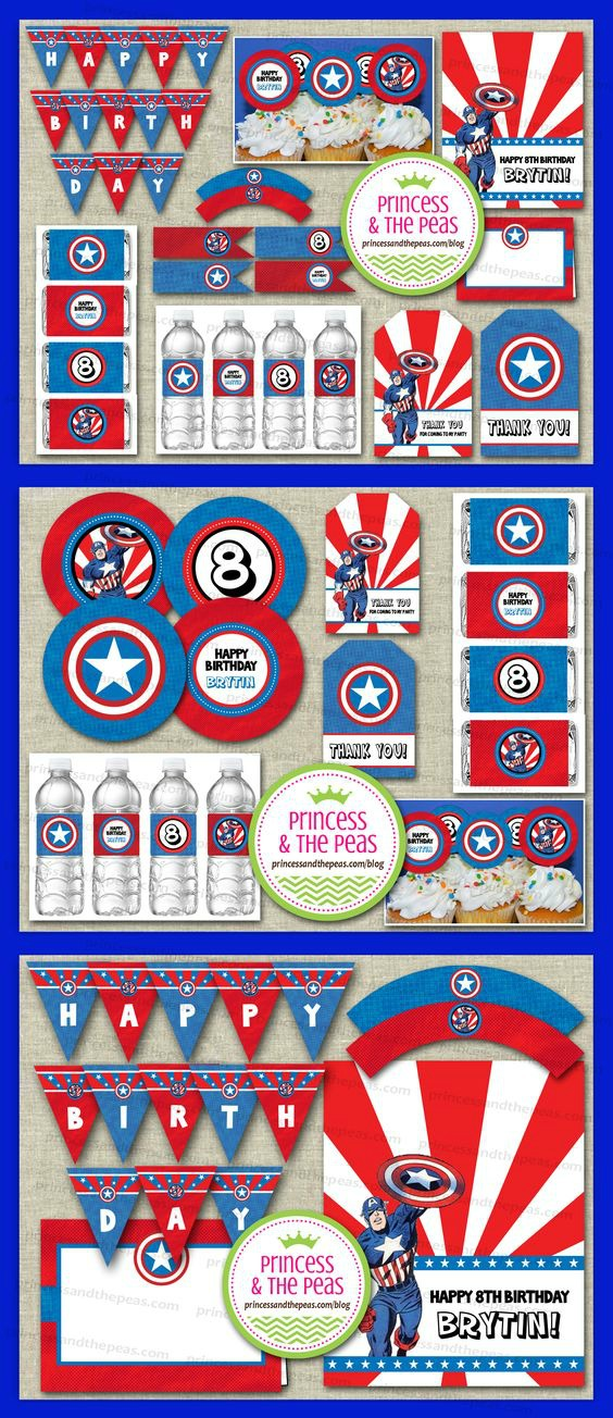 15 Captain America: Civil War Party Ideas - Party Printables