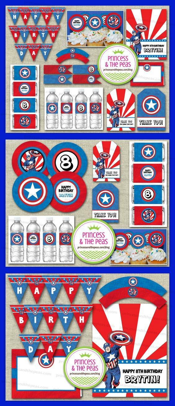 15 Captain America: Civil War Party Ideas - Party Printables