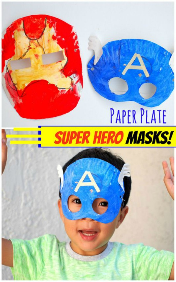 15 Captain America: Civil War Party Ideas - Super hero homemade masks