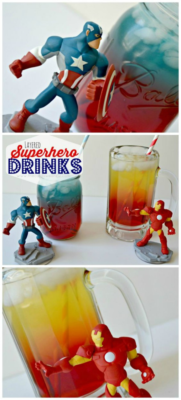 15 Captain America: Civil War Party Ideas - Superhero Layered Drink