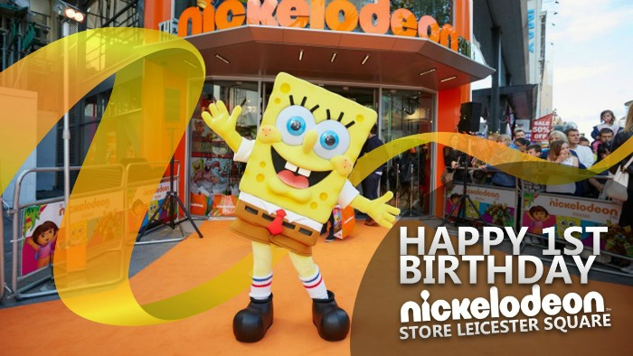 Happy 1st Birthday Nickelodeon Store Leicester Square