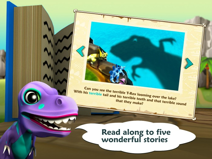 Win a studio tour with Dino Tales Jr app for children - ReadAlongiPadPro-1