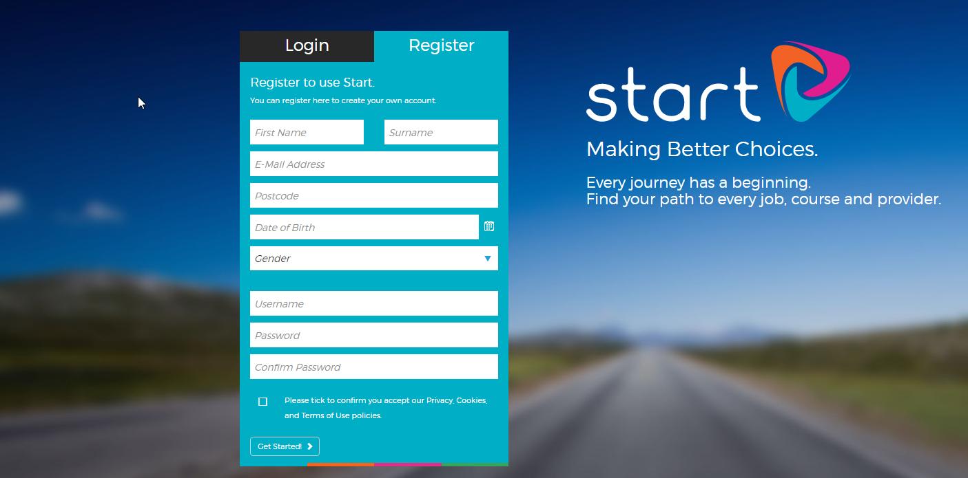 Start registration