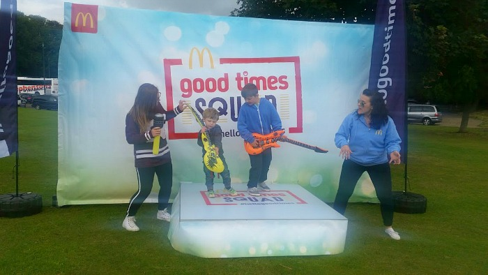 Having family fun with McDonald's #hellogoodtimes - Kids dancing with props