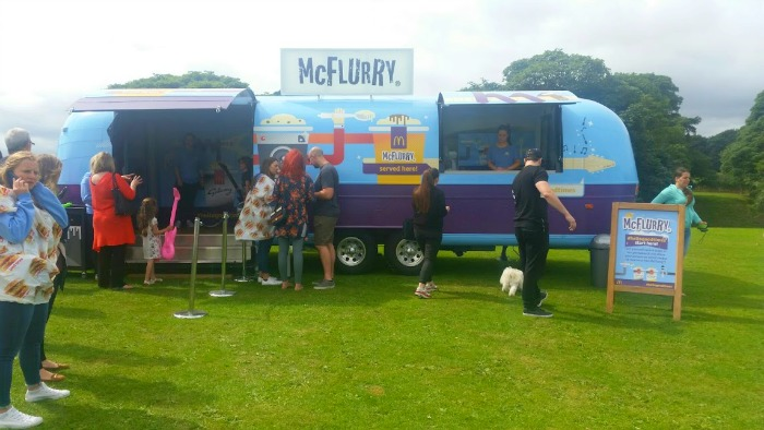 Having family fun with McDonald's #hellogoodtimes - McFlurry Van