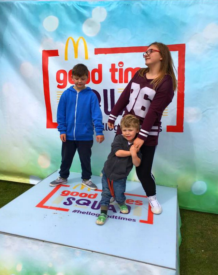 Having family fun with McDonald's #hellogoodtimes - Pop up stage