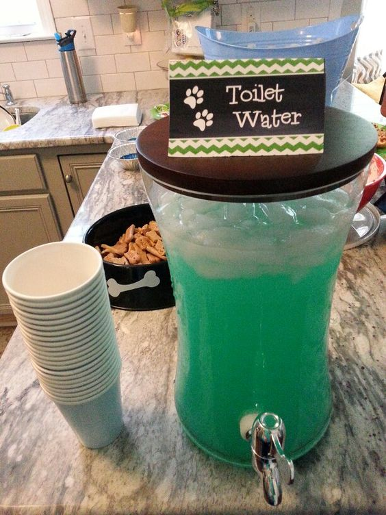 21 Paw Patrol Birthday Party Ideas - DIY Paw Patrol Toilet Water Drink