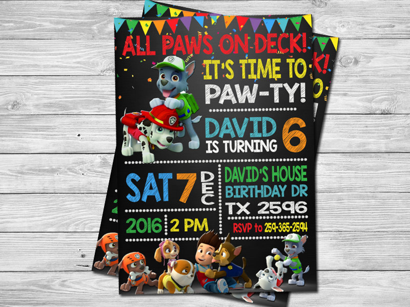 21 Paw Patrol Birthday Party Ideas - Paw Patrol Party Invitations