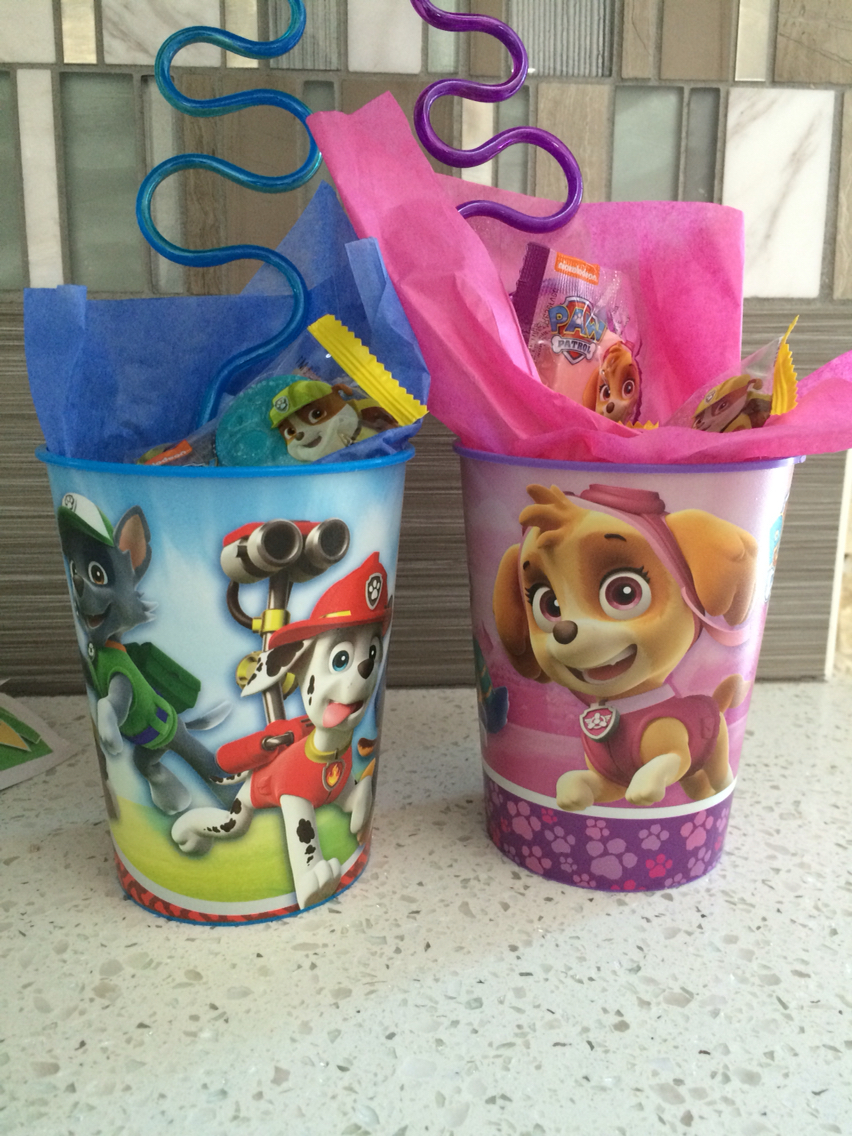 21 Paw Patrol Birthday Party Ideas - Paw Patrol Thank you cups