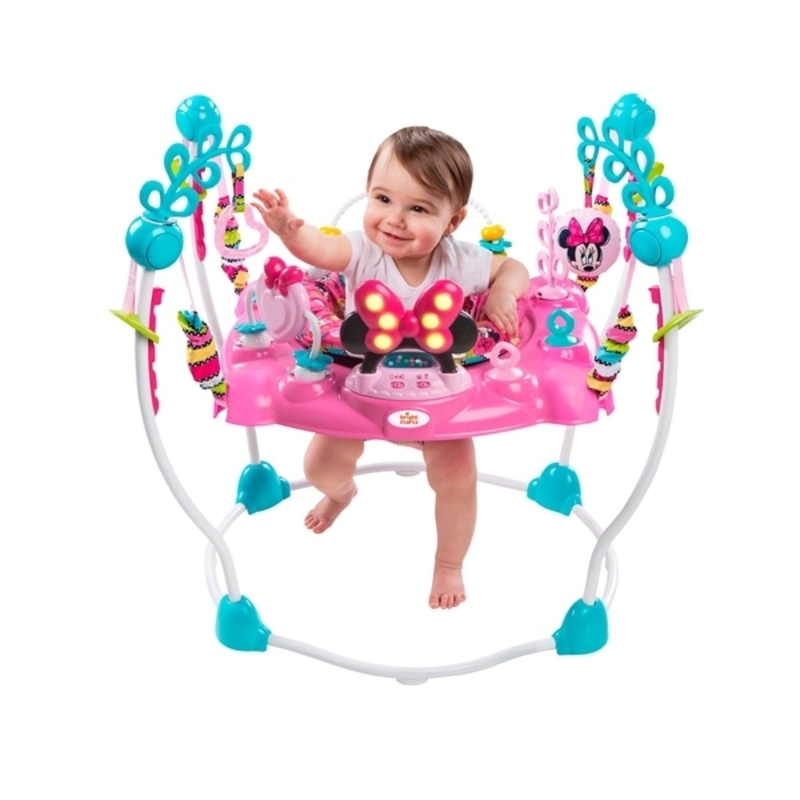 Disney Baby Minnie Mouse Peekaboo Activity Baby Jumper - u me and the kids