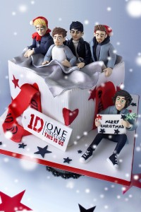 One Direction Christmas Cake