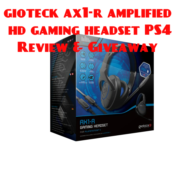 gioteck ax1-r amplified hd gaming headset PS4