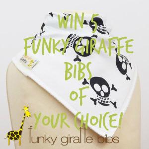 Win 5 Cute & Stylish Funky Giraffe bibs of your choice