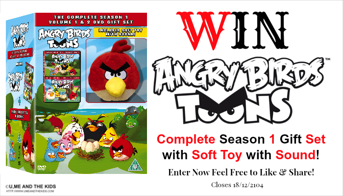 Angry Birds Toons Complete Season 1 Gift Set with soft toy with sound