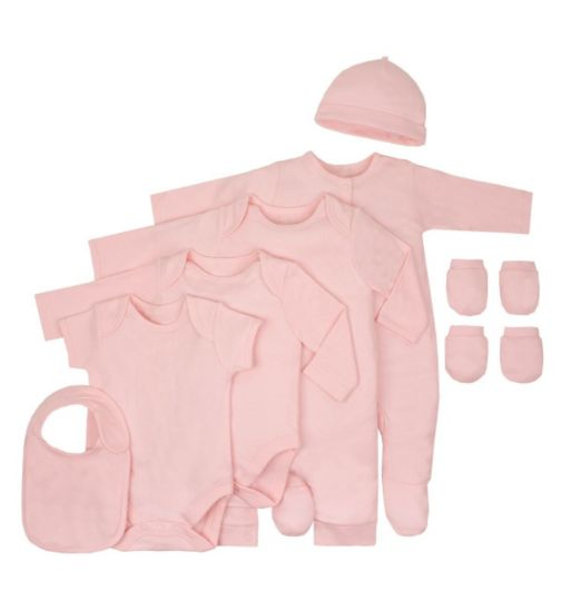 Boots Deals - Baby Basics Pink 8 Piece Set - Mini Club