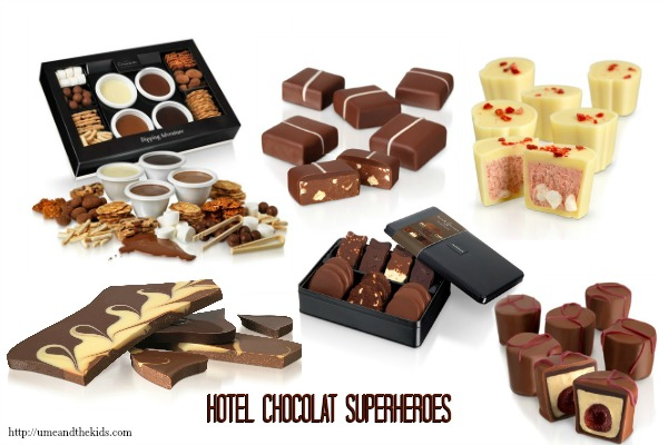 Gifts for men - Hotel Chocolat - Superheroes Range