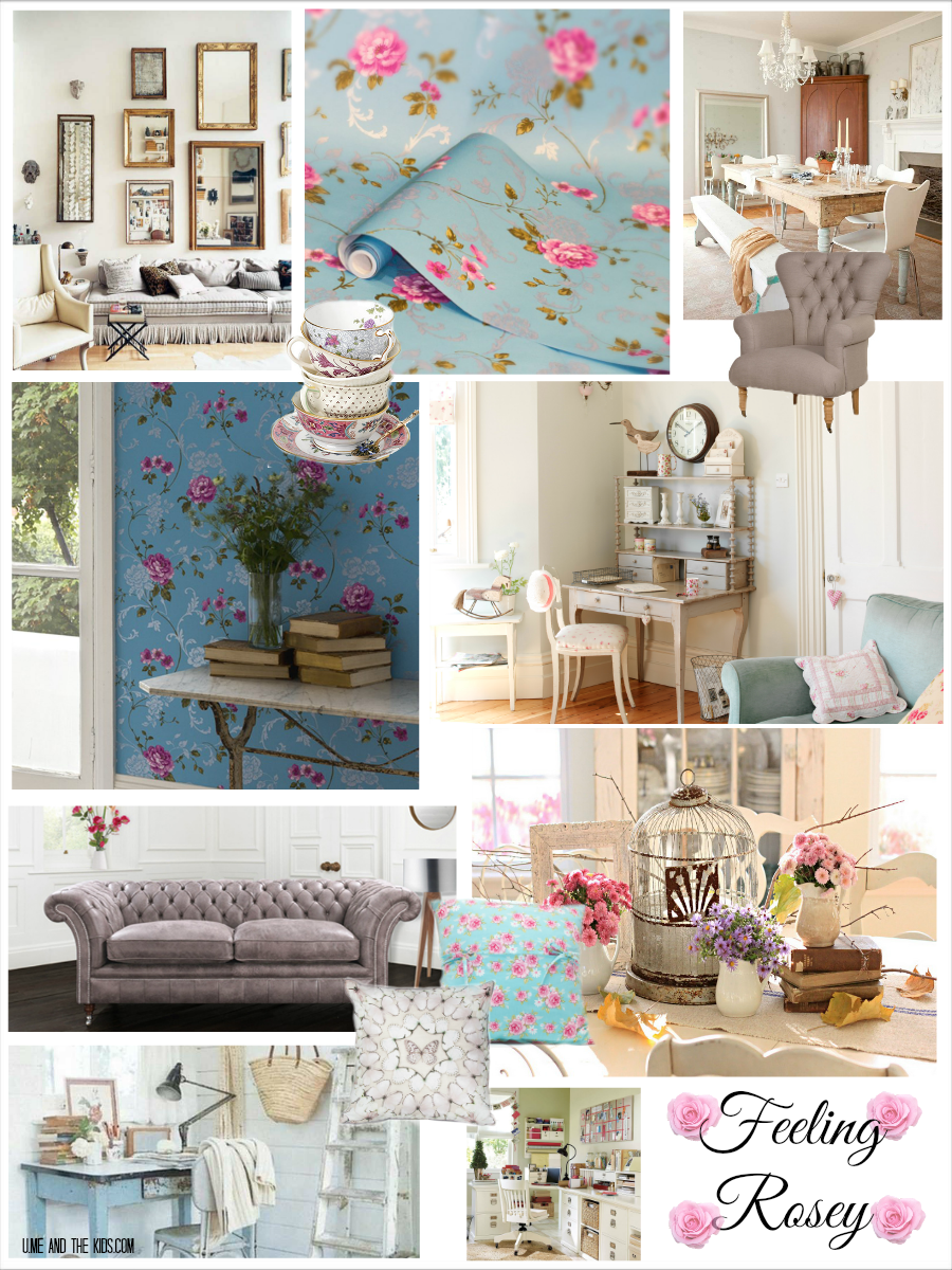 Home Decor Northern Rose Moodboard